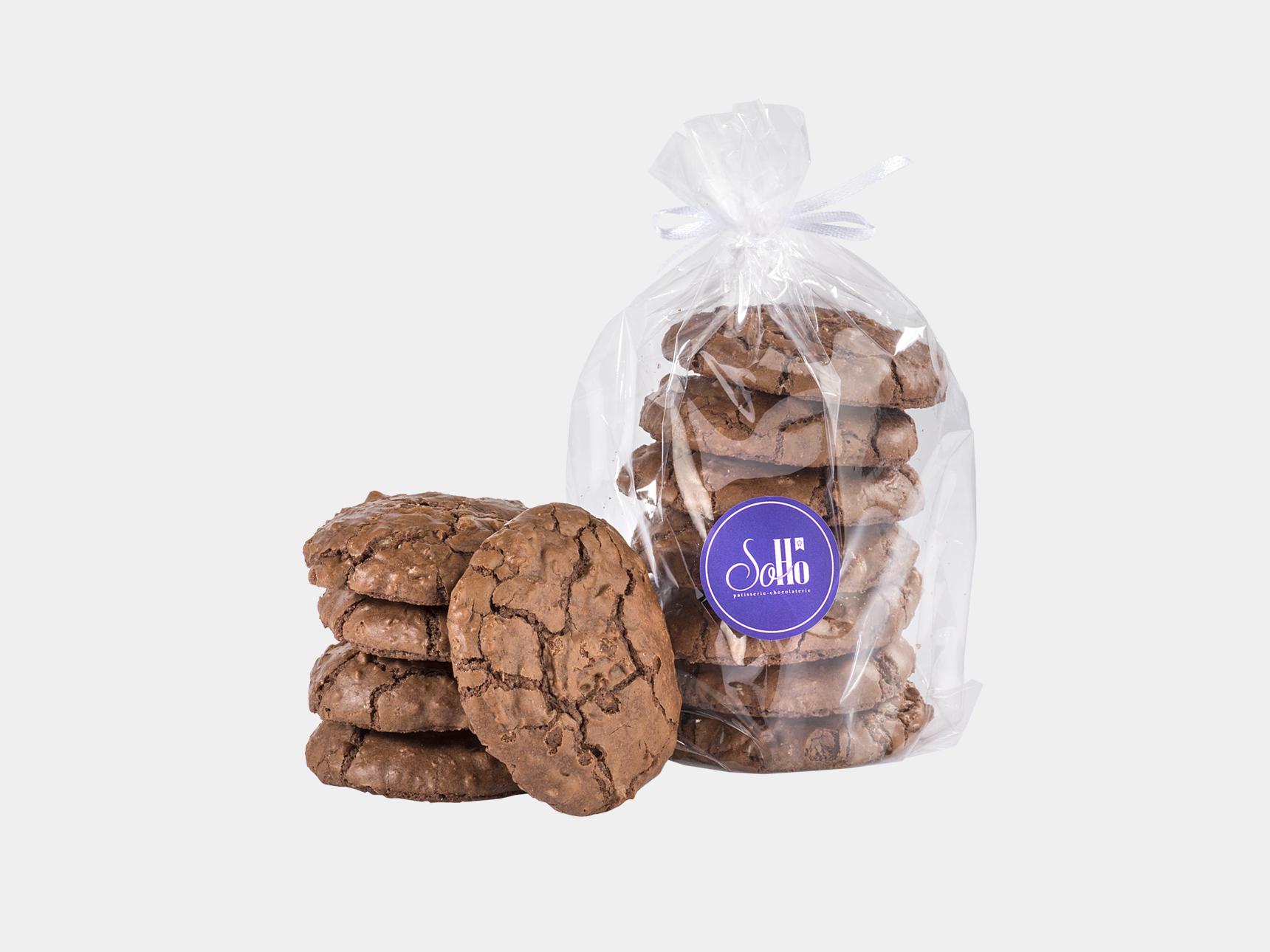 Cookie Brownie with Walnuts