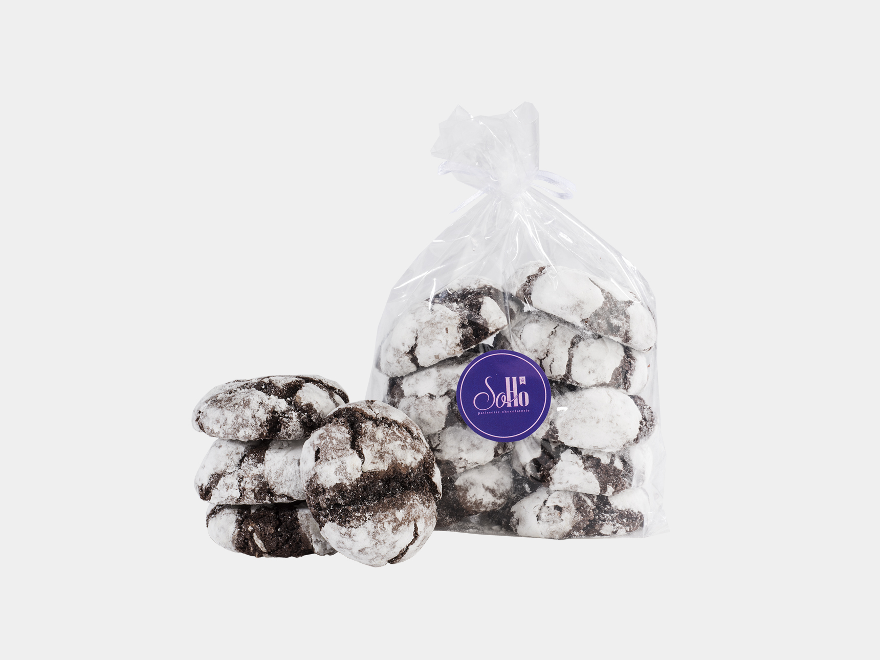 Cookie with Chocolate Crinkle